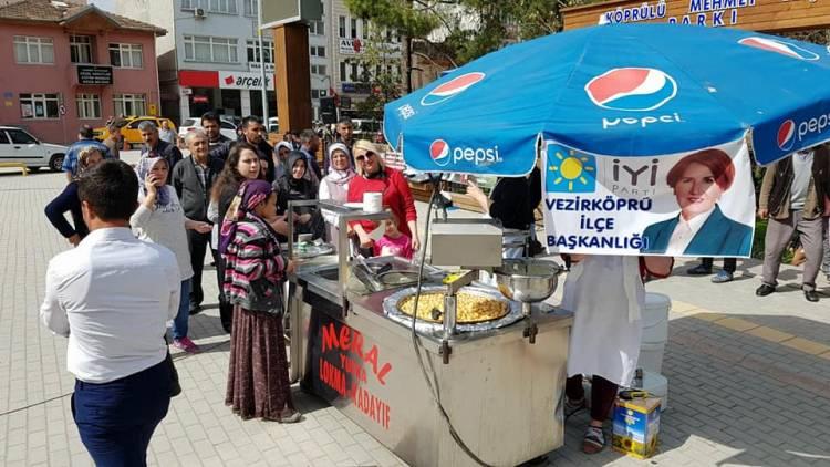 İyi Parti Vezirköprü Lokma İkramı - Çanakkale Şehitleri ve 2 Aylar anısına