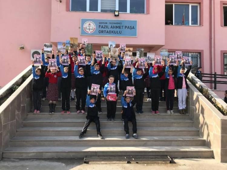 Fazıl Ahmet Paşa Ortaokulu Mehmetçik için El Ele